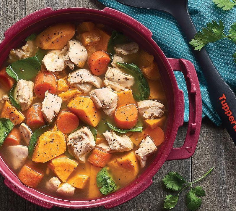 Sweet Potato & Chicken Soup